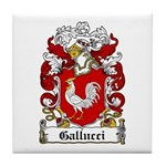 Gallucci Family Crest Tile Coaster