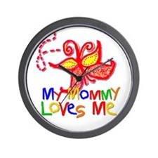 My Mommy Loves Me (Butterfly) Wall Clock