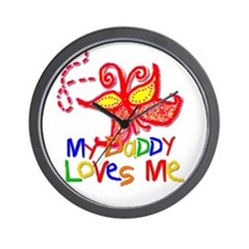My Daddy Loves Me (Butterfly) Wall Clock