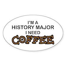 History Major Need Coffee Oval Decal