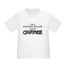 History Major Need Coffee T