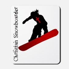Christian Snowboarder Mousepad