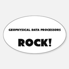 Geophysical Data Processors ROCK Oval Decal