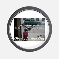 """""""Obama Is Your Guy?"""" Wall Clock"""