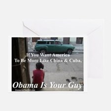 """""""Obama Is Your Guy?"""" Greeting Card"""
