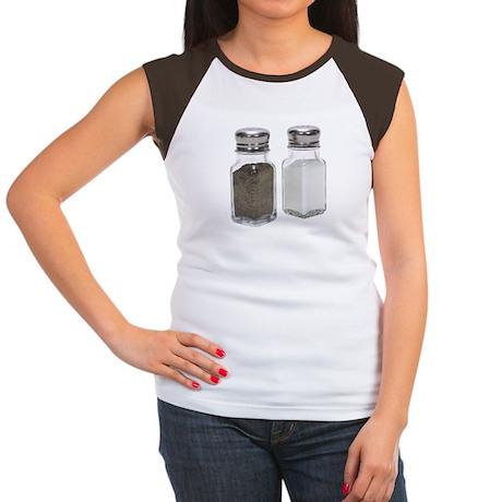 Some Salt & Pepper On Your Women's Cap Sleeve T-Sh