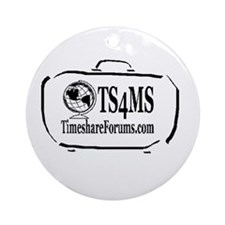 Cute Timesharing Ornament (Round)