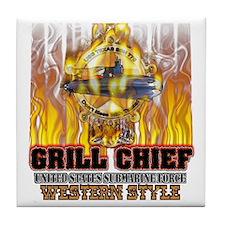 Texas Grilling Tile Coaster