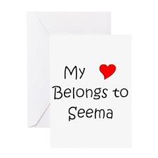 Unique My heart belongs marcelo Greeting Card