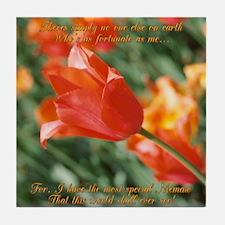 Memaw Tulips Tile Coaster