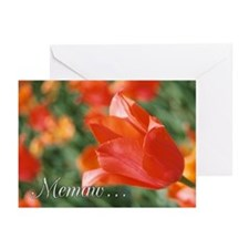Memaw Tulips Greeting Cards (Pk of 10)