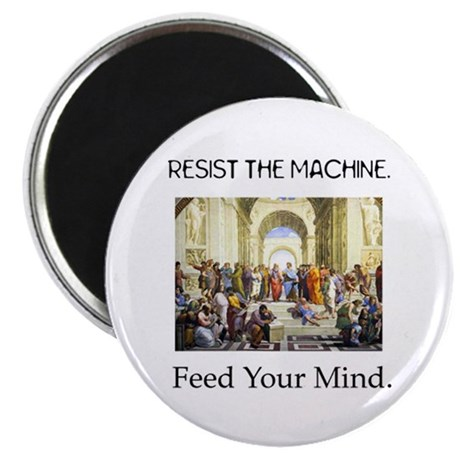 """Feed Your Mind"" 2.25"" Magnet (10 pack)"