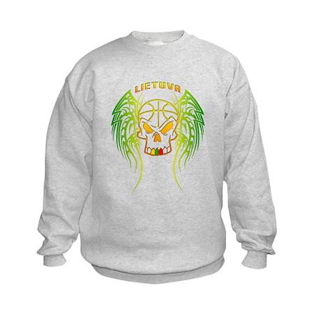 LT Basketball Tribal Skull Kids Sweatshirt