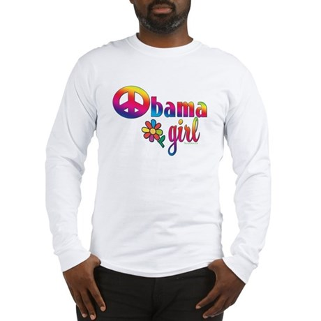Obama Girls Peace Sign Long Sleeve T-Shirt