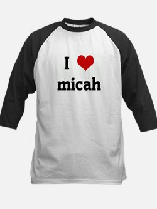 I Love micah Kids Baseball Jersey