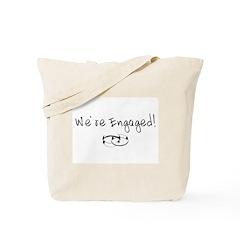 We're Engaged! Tote Bag