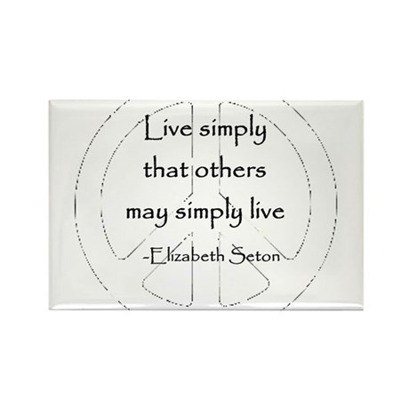Live Simply Rectangle Magnet (100 pack)