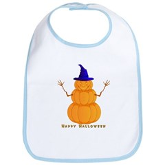 Halloween Pumpkin Man Bib