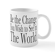 Be the Change (b&w) Mug