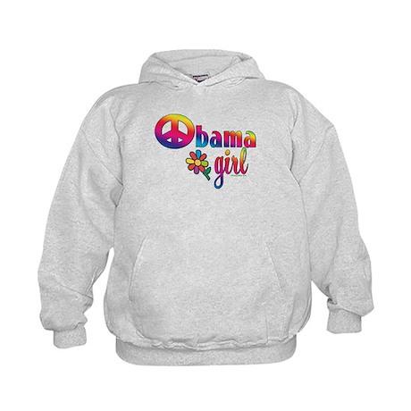 Obama Girls Peace Sign Kids Hoodie