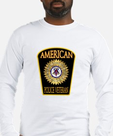 American Police Veterans Patc Long Sleeve T-Shirt