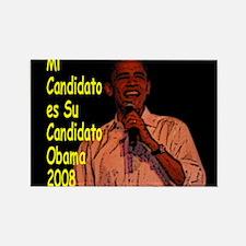 Mi Candidato Obama Rectangle Magnet