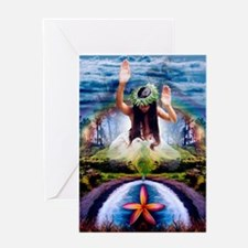 Hawaiian Rainbow Fantasy Greeting Card