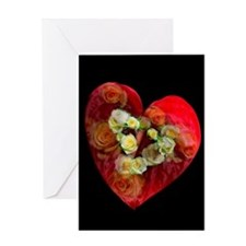 Romantic Roses and Heart Greeting Card