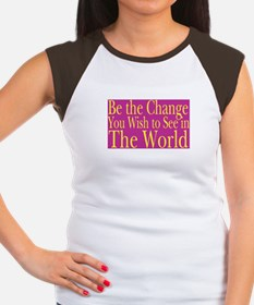Be the Change (bright) Women's Cap Sleeve T-Shirt