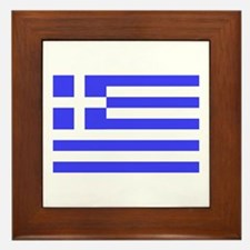 Greek Flag Framed Tile