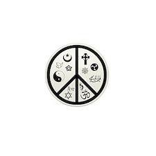 Peaceful Coexistence Mini Button