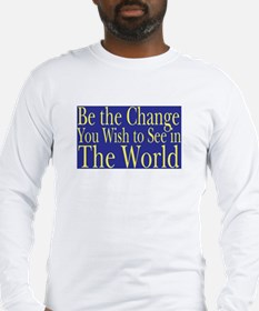 Be the Change (blue) Long Sleeve T-Shirt