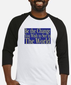 Be the Change (blue) Baseball Jersey