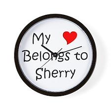 My heart belongs valentin Wall Clock