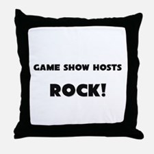 Game Show Hosts ROCK Throw Pillow