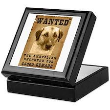 """""""Wanted"""" Anatolian Shepherd Dog Keepsake Box"""