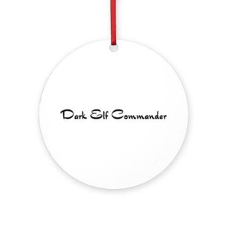 Dark Elf Commander Ornament (Round)