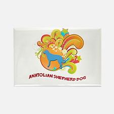Groovy Anatolian Shepherd Dog Rectangle Magnet