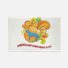 Groovy Anatolian Shepherd Dog Rectangle Magnet (10