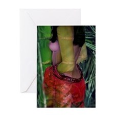 Bamboo Female Nude Greeting Card
