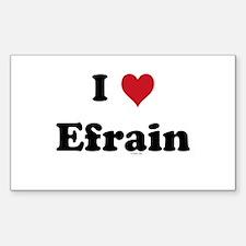 I love Efrain Rectangle Decal