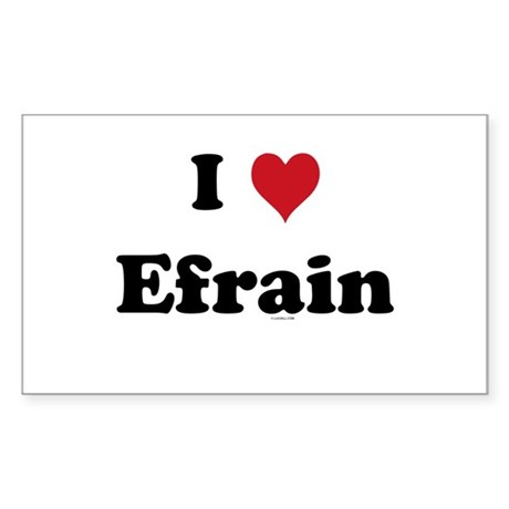 I love Efrain Rectangle Sticker