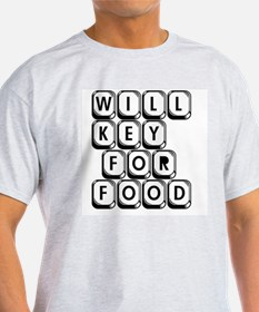 Will Key for Food Ash Grey T-Shirt