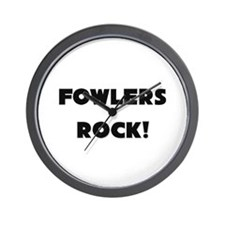 Fowlers ROCK Wall Clock
