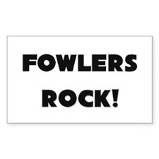 Fowlers ROCK Rectangle Decal