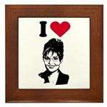 I Love Sarah Palin Framed Tile