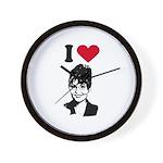 I Love Sarah Palin Wall Clock