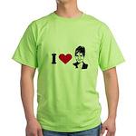 I Love Sarah Palin Green T-Shirt