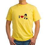 I Love Sarah Palin Yellow T-Shirt