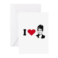 I Love Sarah Palin Greeting Cards (Pk of 20)
